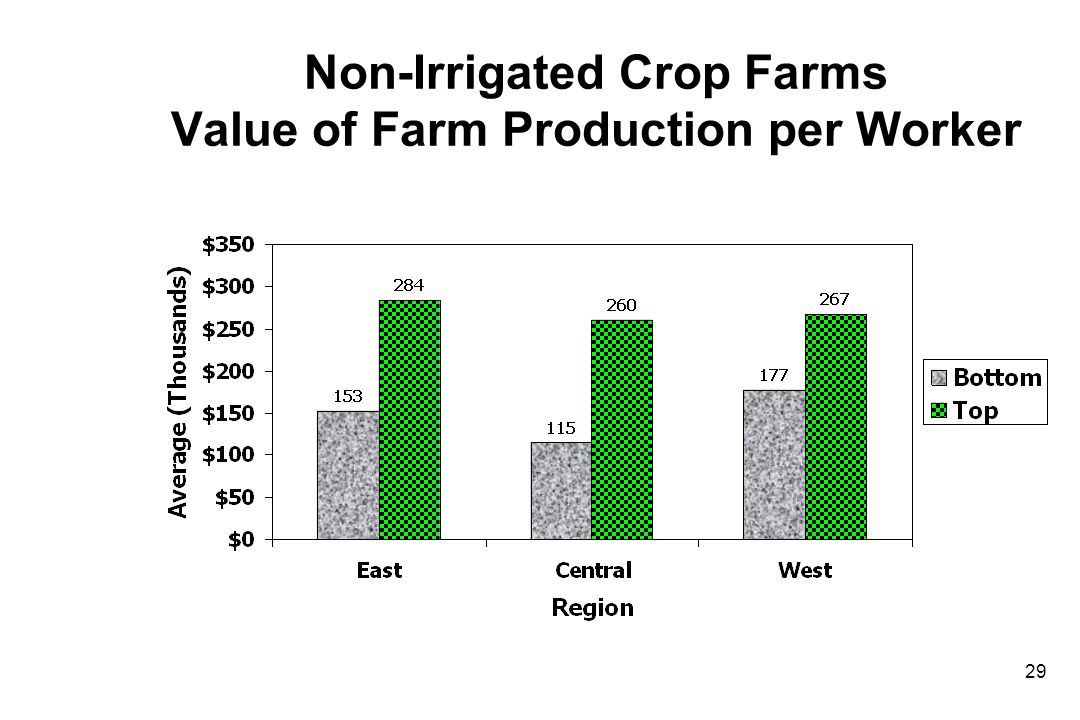 Non-Irrigated Crop Farms Value of Farm Production per Worker 29