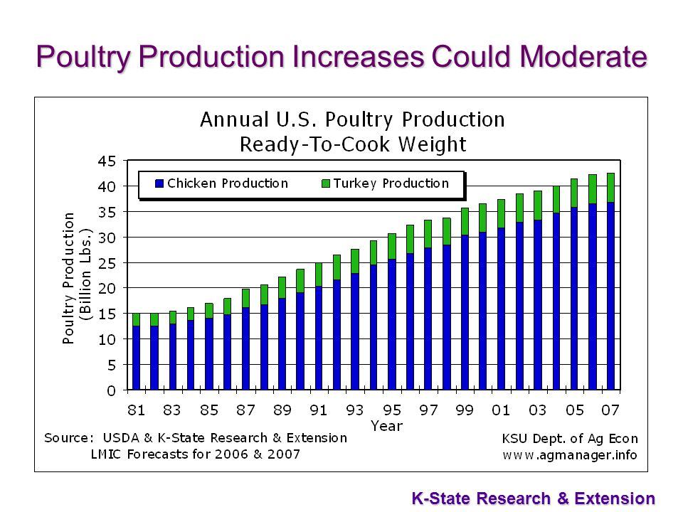 31 K-State Research & Extension Poultry Production Increases Could Moderate