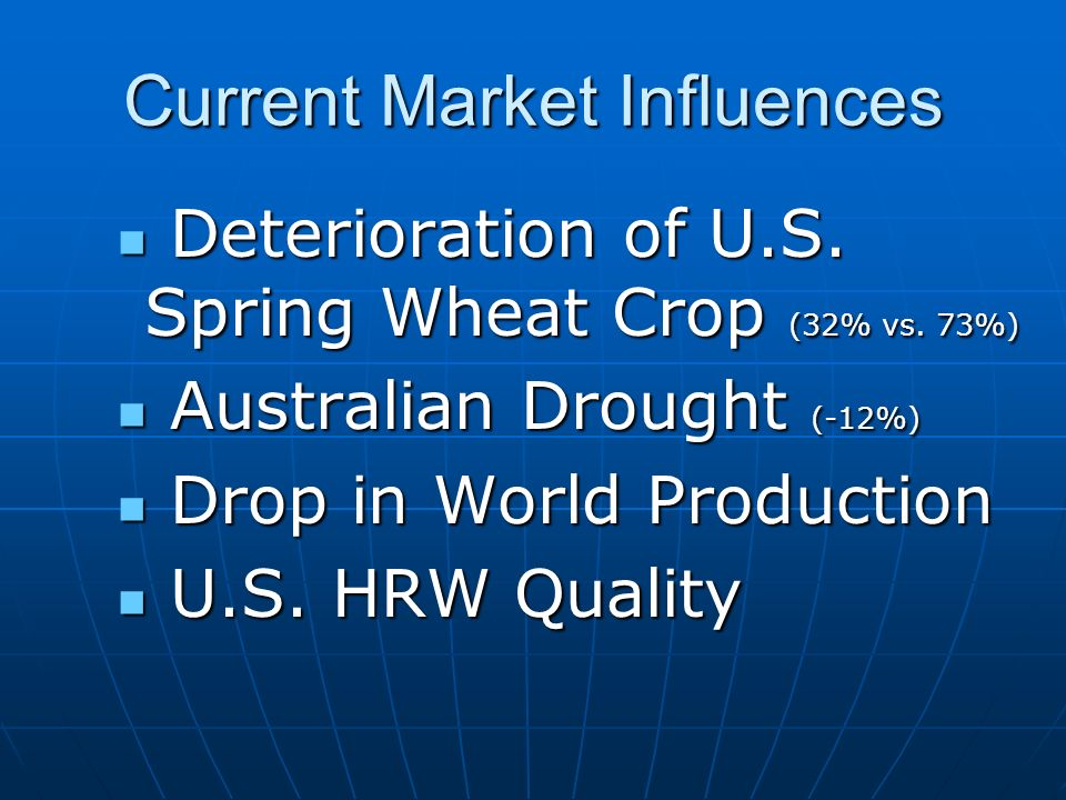 Current Market Influences Deterioration of U.S. Spring Wheat Crop (32% vs.