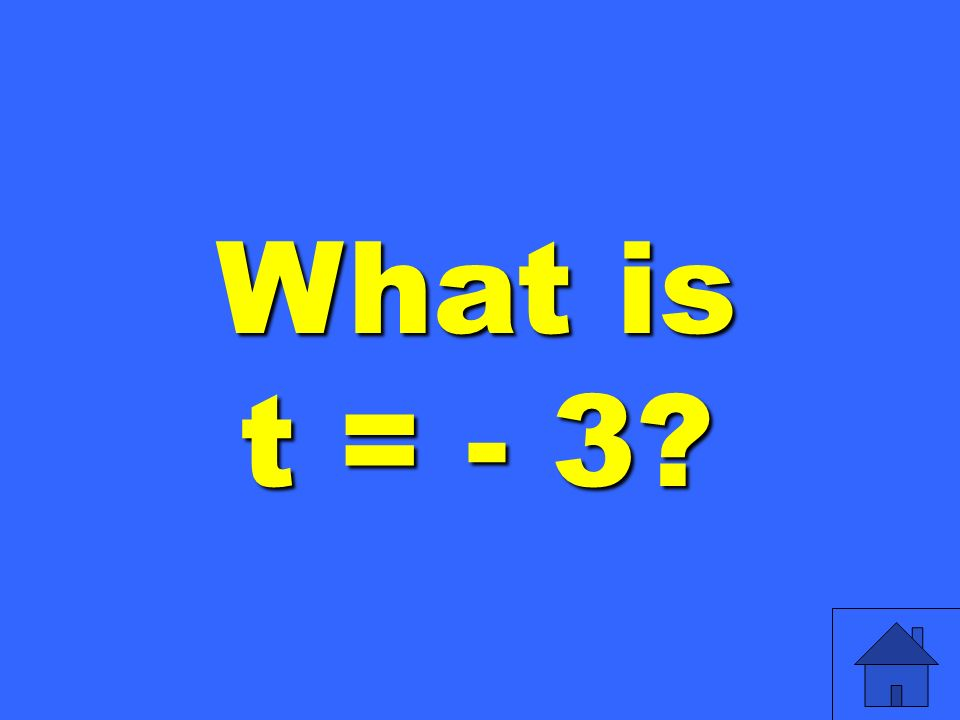 What is t = - 3
