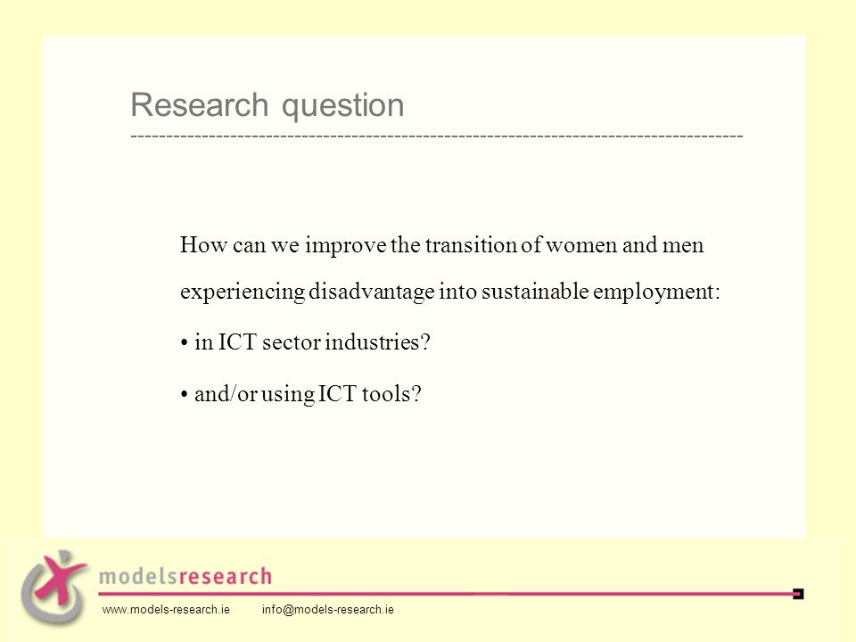 How can we improve the transition of women and men experiencing disadvantage into sustainable employment: in ICT sector industries.