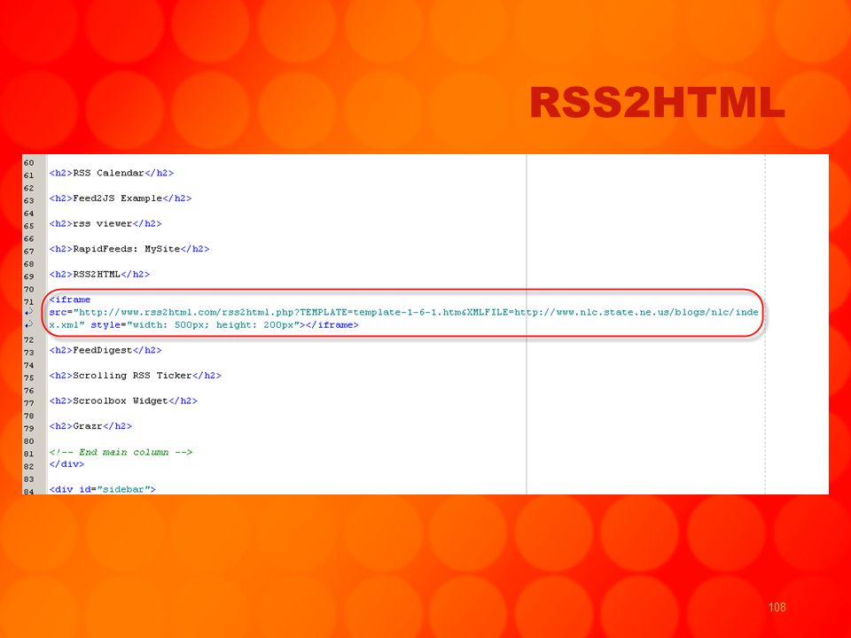 108 RSS2HTML