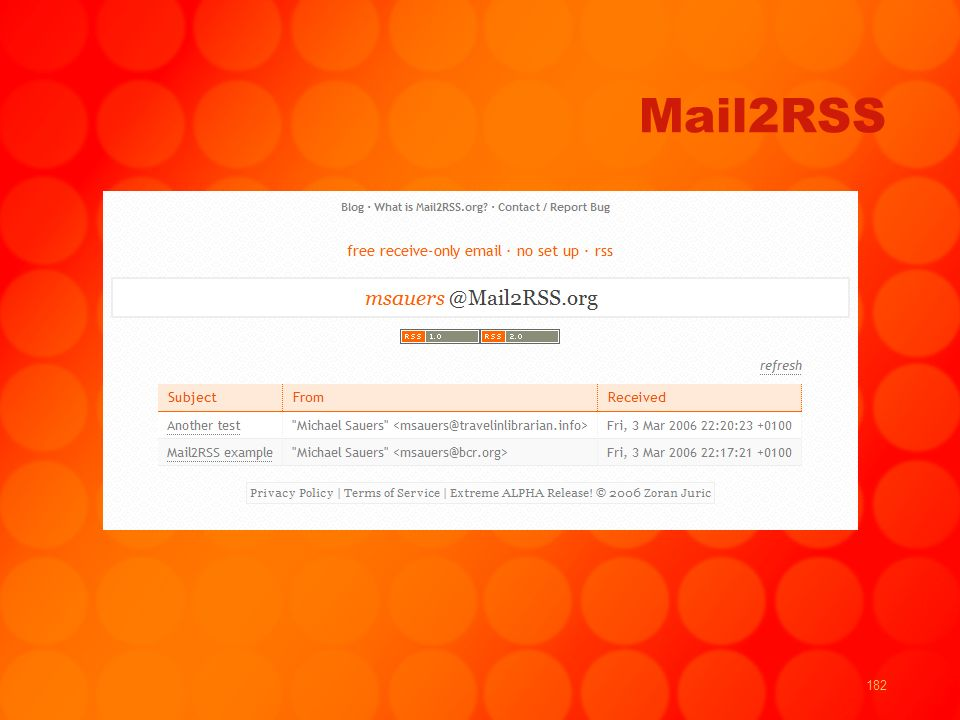182 Mail2RSS
