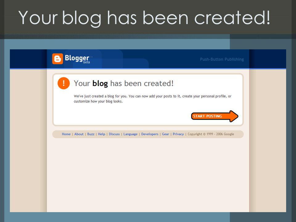 Your blog has been created!
