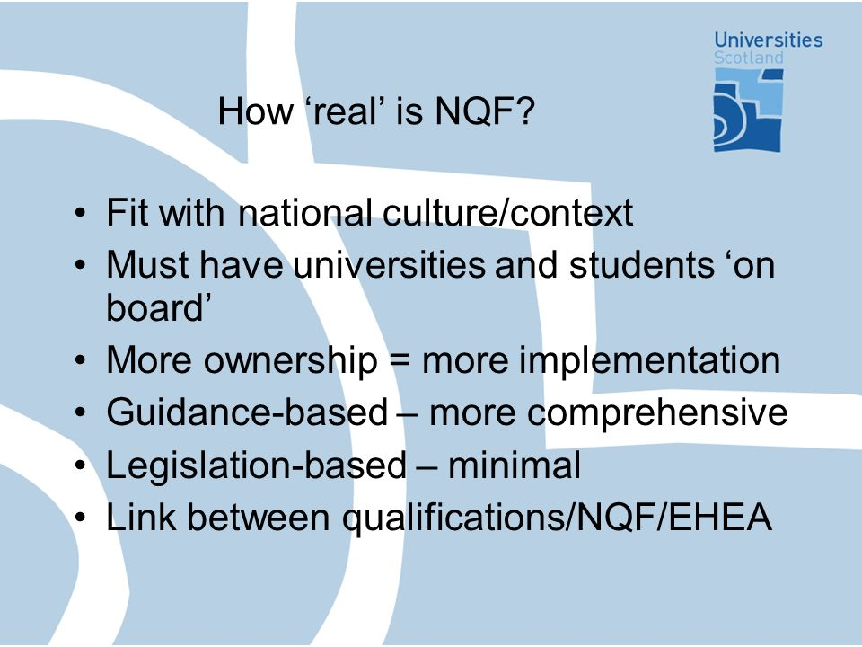 How real is NQF.