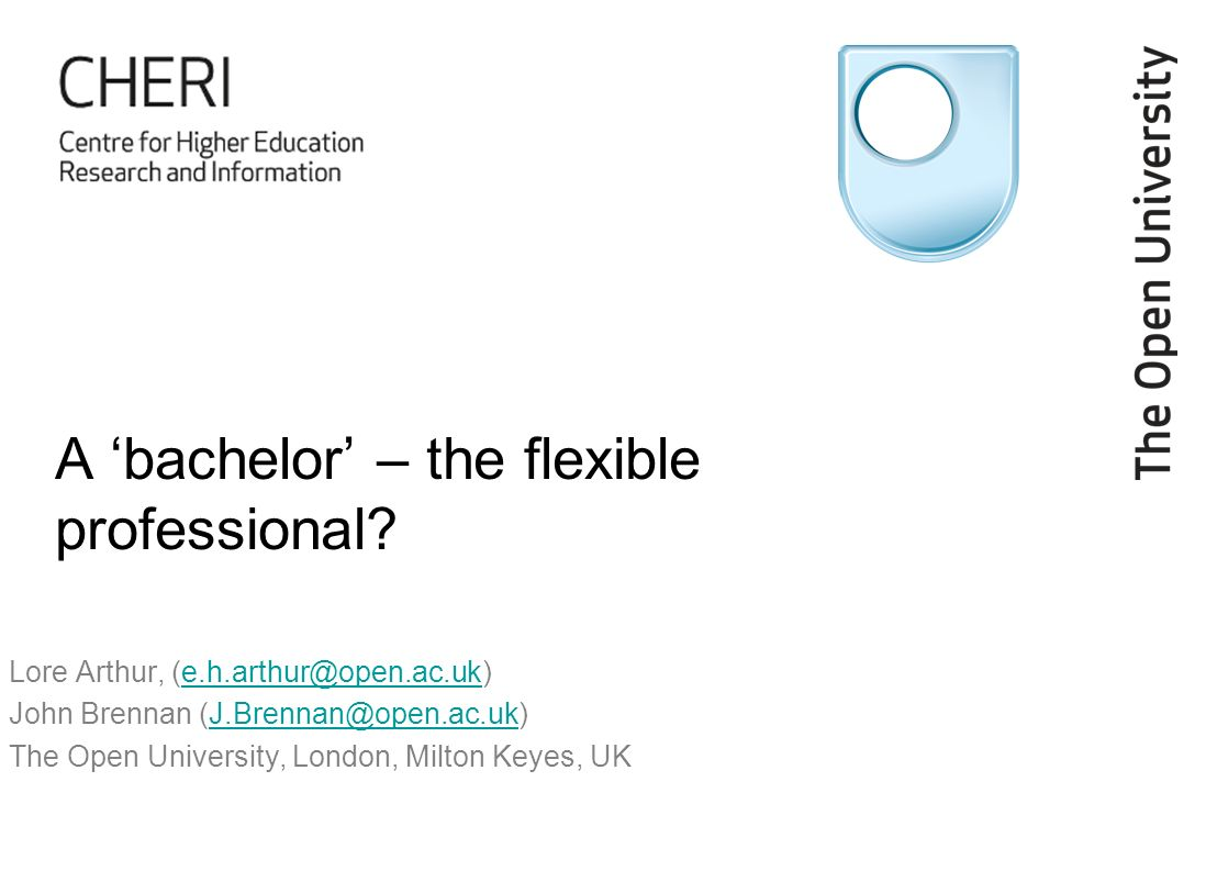 A bachelor – the flexible professional.