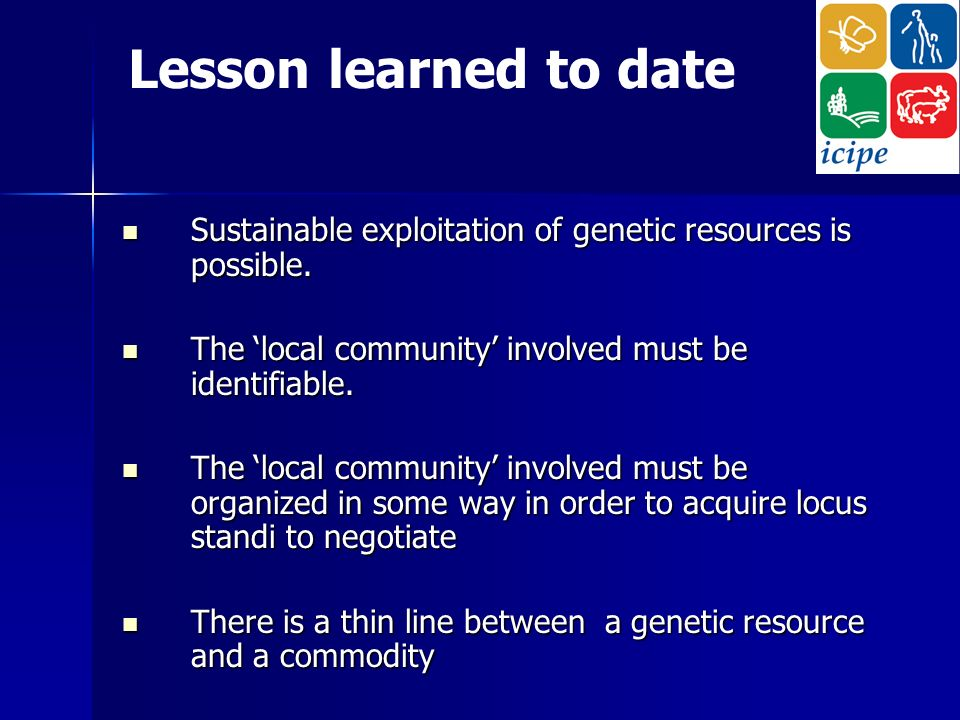 Sustainable exploitation of genetic resources is possible.