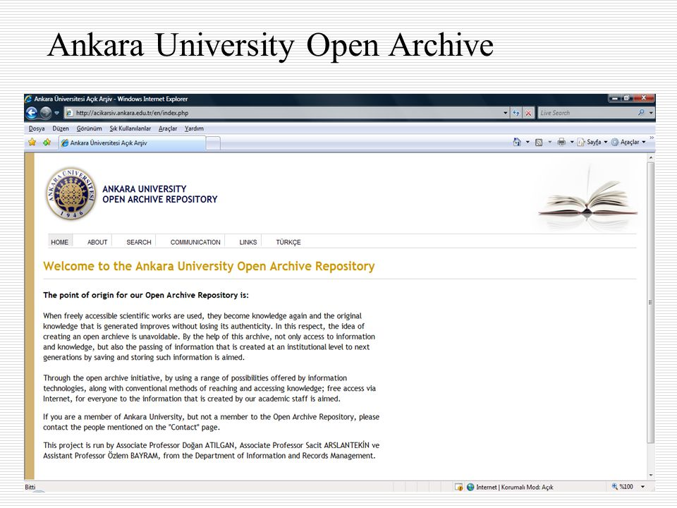 Ankara University Open Archive