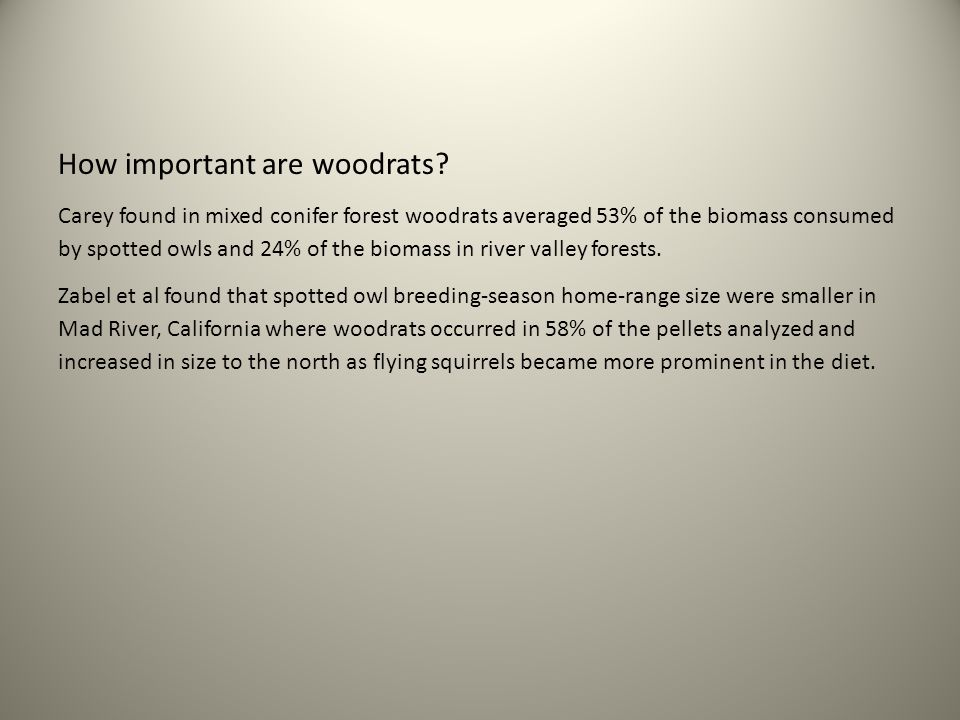 How important are woodrats.