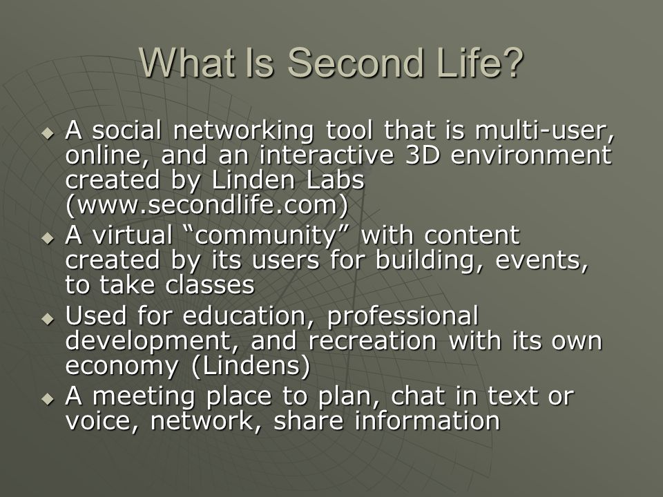 What Is Second Life.