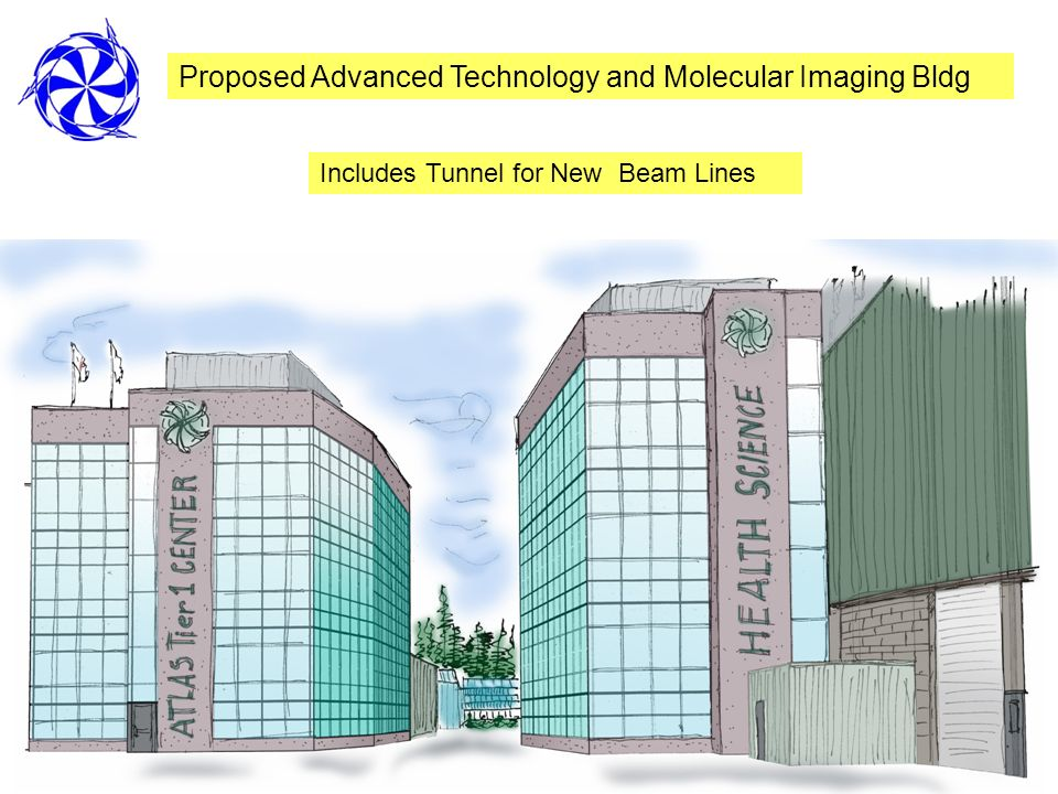 Proposed Advanced Technology and Molecular Imaging Bldg Includes Tunnel for New Beam Lines