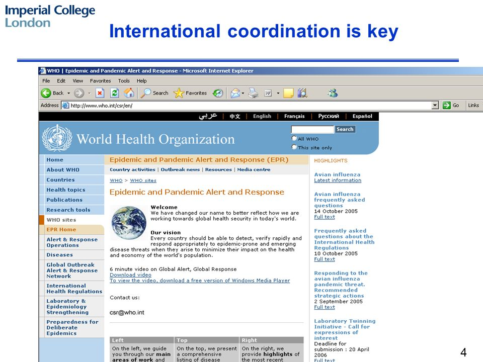 International coordination is key 4