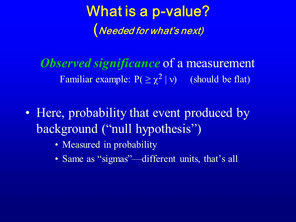 What is a p-value.