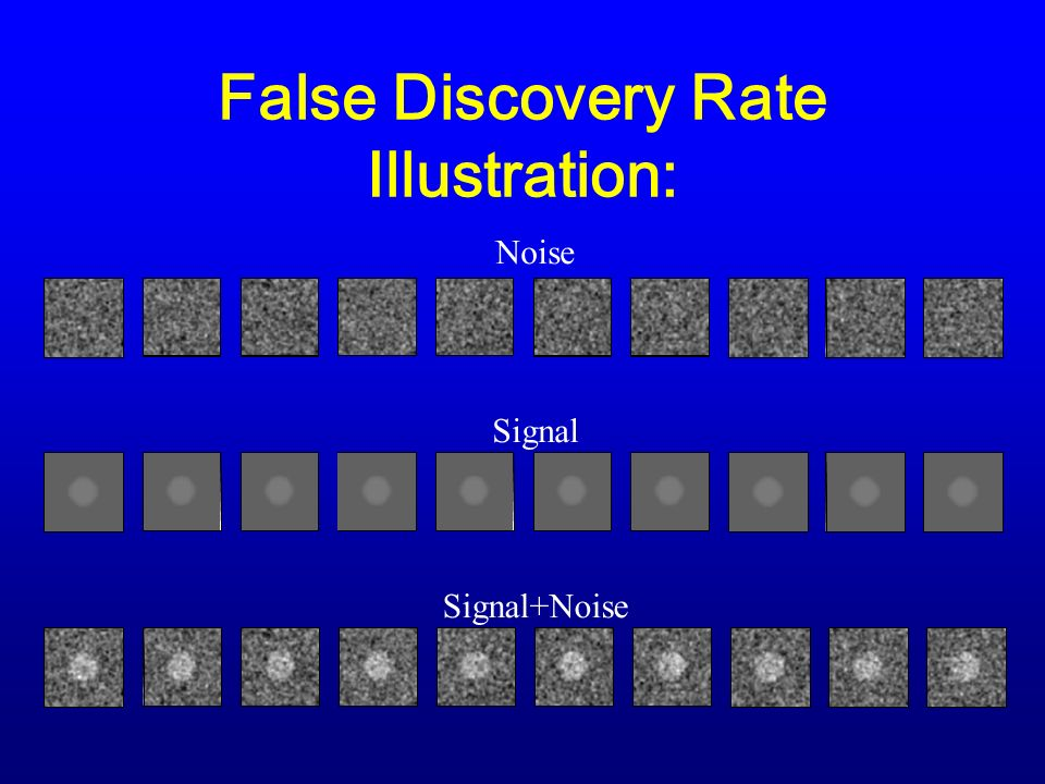 False Discovery Rate Illustration: Signal+Noise Noise