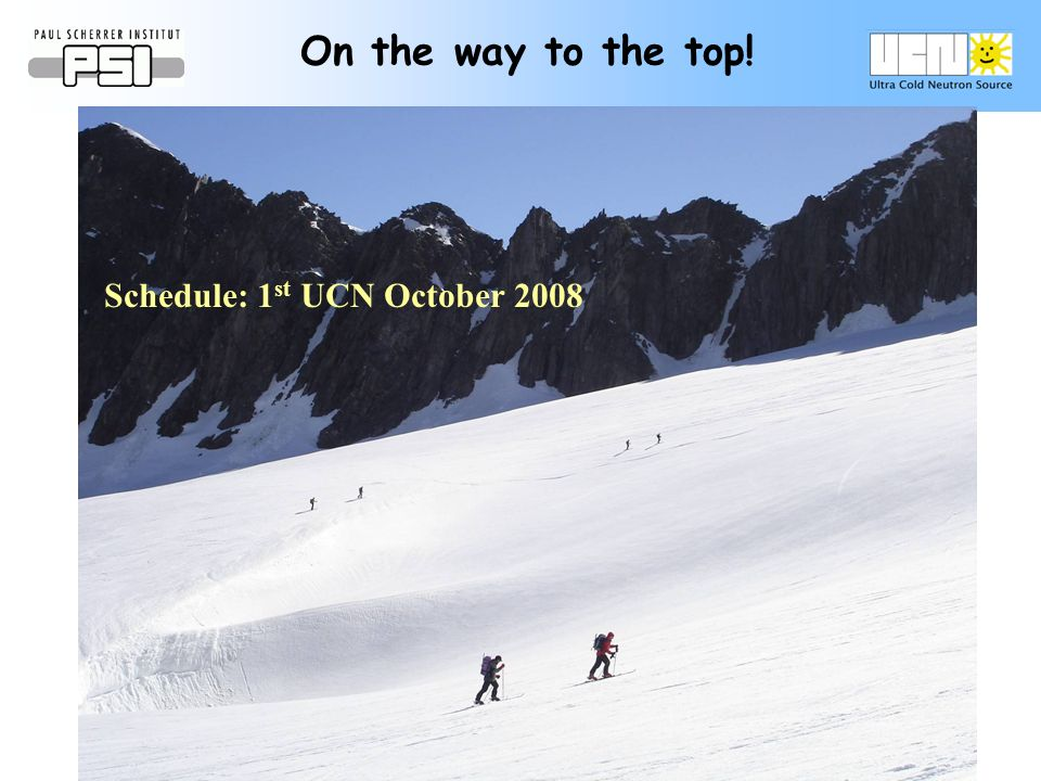 On the way to the top! Schedule: 1 st UCN October 2008