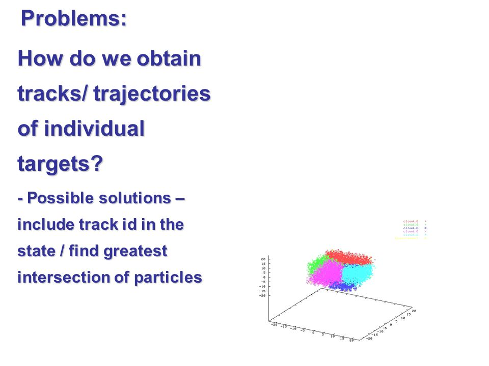 How do we obtain tracks/ trajectories of individual targets.