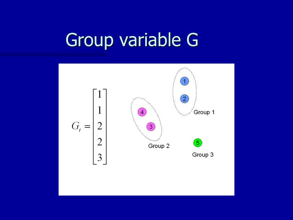 Group variable G