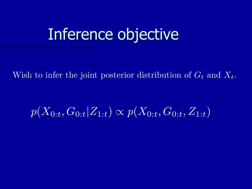 Inference objective