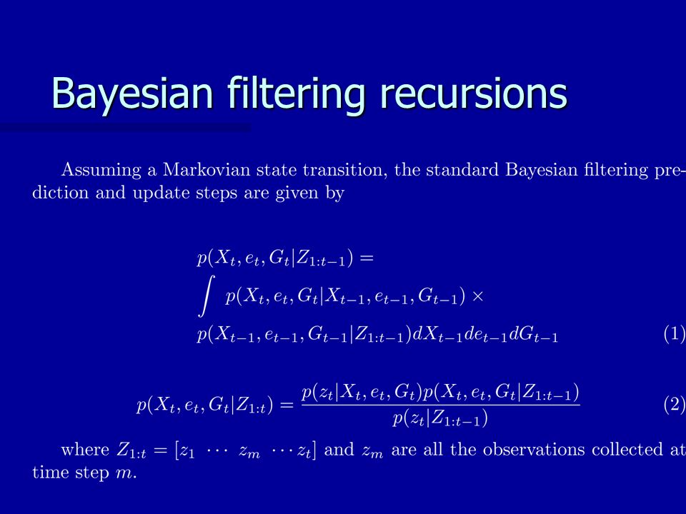 Bayesian filtering recursions