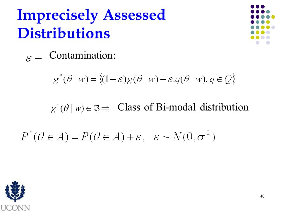 46 Imprecisely Assessed Distributions Contamination: Class of Bi-modal distribution