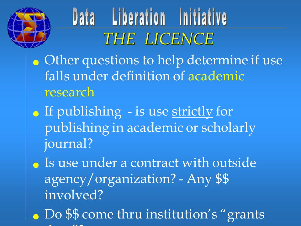 Other questions to help determine if use falls under definition of academic research If publishing - is use strictly for publishing in academic or scholarly journal.