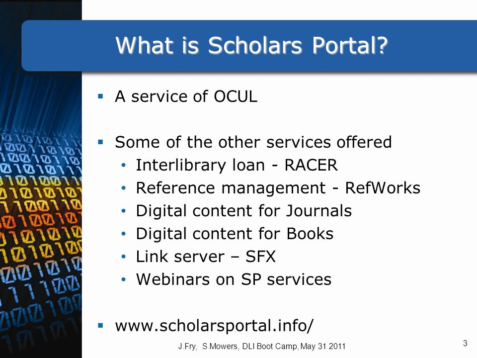 What is Scholars Portal.
