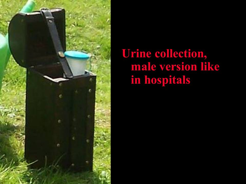 Urine collection, male version like in hospitals