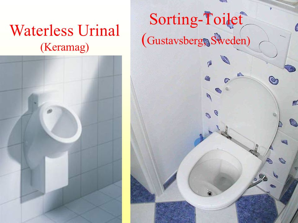 Sorting-Toilet ( Gustavsberg, Sweden) Waterless Urinal (Keramag)