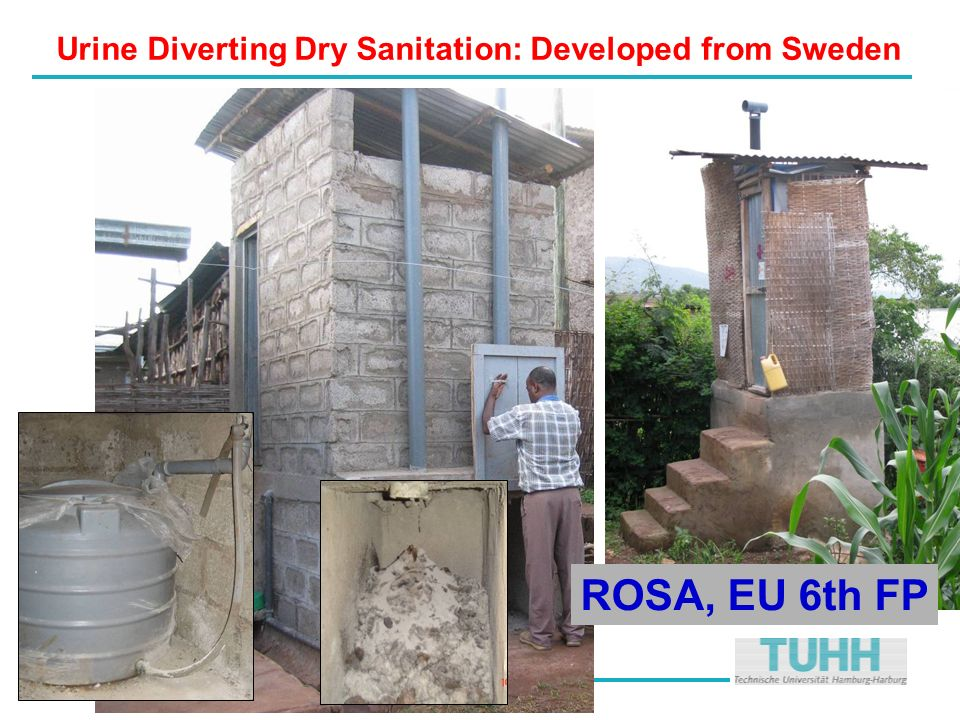 …. Urine Diverting Dry Sanitation: Developed from Sweden ROSA, EU 6th FP
