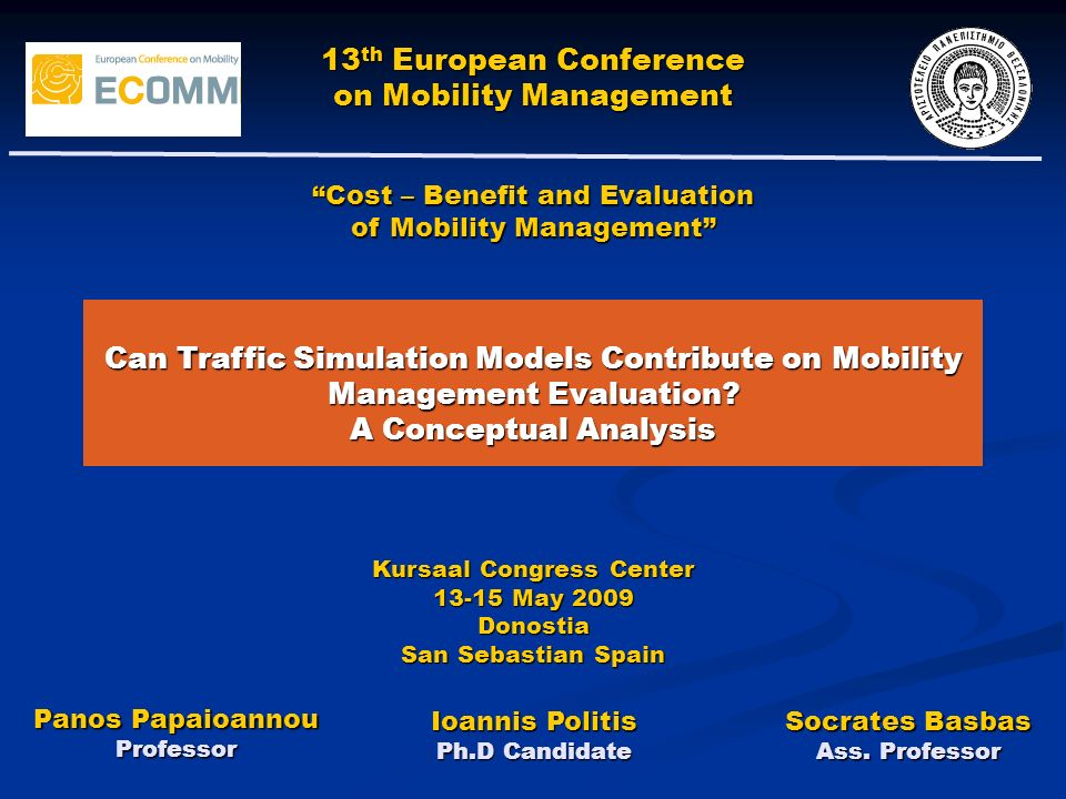 Can Traffic Simulation Models Contribute on Mobility Management Evaluation.