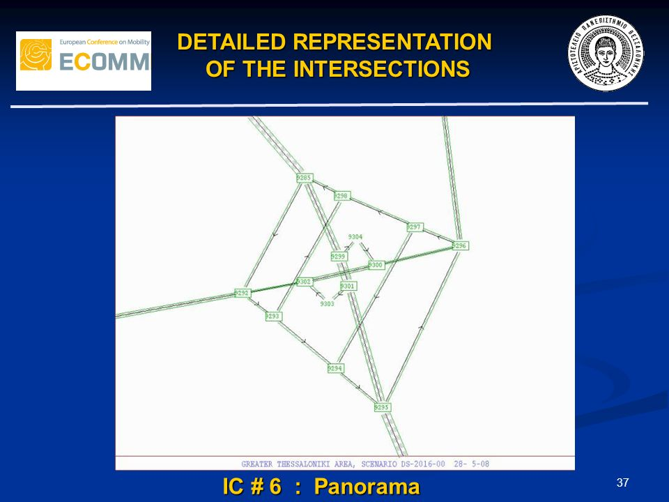 37 IC # 6 : Panorama DETAILED REPRESENTATION OF THE INTERSECTIONS OF THE INTERSECTIONS