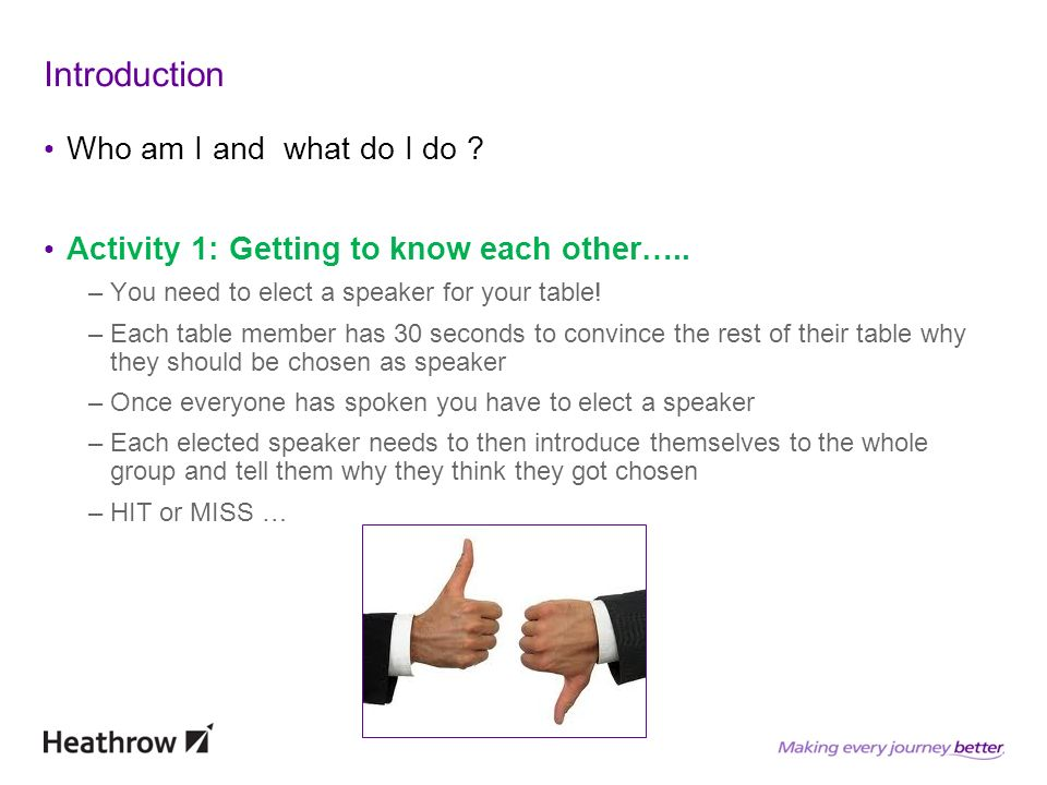 Introduction Who am I and what do I do . Activity 1: Getting to know each other…..