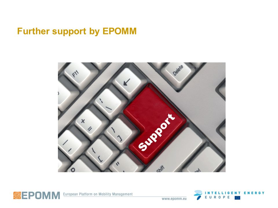 Further support by EPOMM