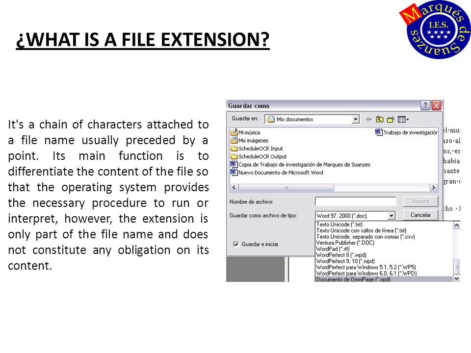 ¿WHAT IS A FILE EXTENSION.