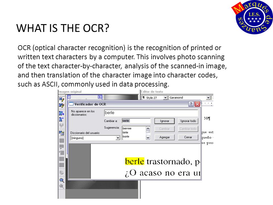 WHAT IS THE OCR.