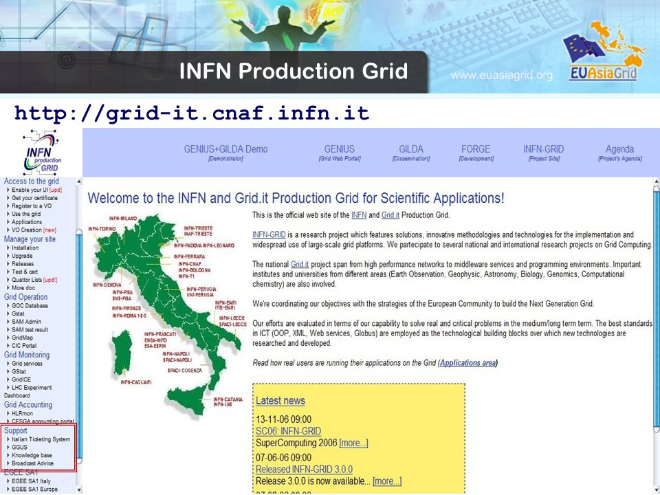 INFN Production Grid http://grid-it.cnaf.infn.it