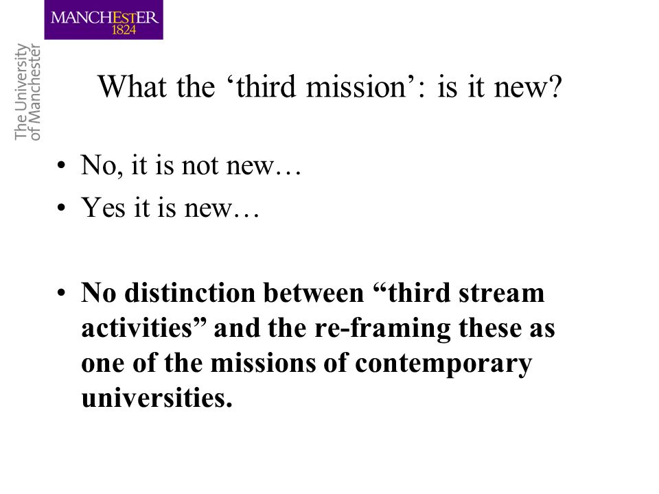 What the third mission: is it new.