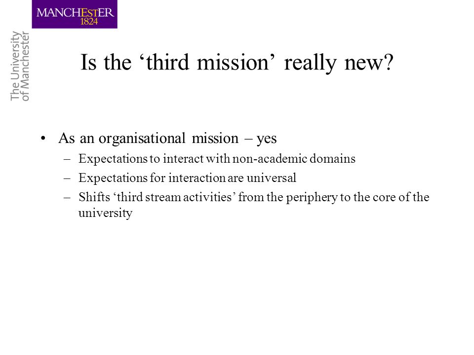 Is the third mission really new.