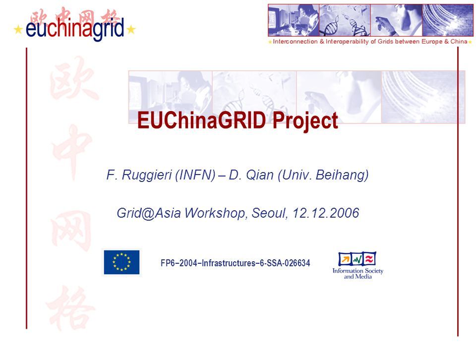 FP62004Infrastructures6-SSA-026634 EUChinaGRID Project F.
