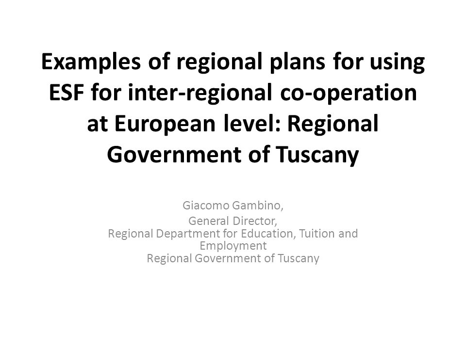 regional government examples