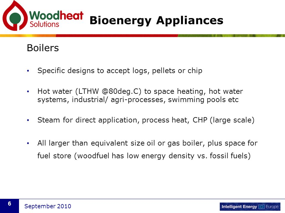 September Wood to Warmth – Bioenergy Appliances Michael