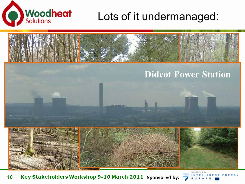 Sponsored by: Key Stakeholders Workshop 9-10 March 2011 10 Lots of it undermanaged : Didcot Power Station