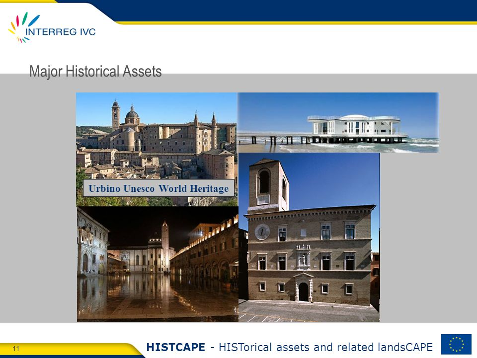 11 HISTCAPE - HISTorical assets and related landsCAPE Major Historical Assets Urbino Unesco World Heritage