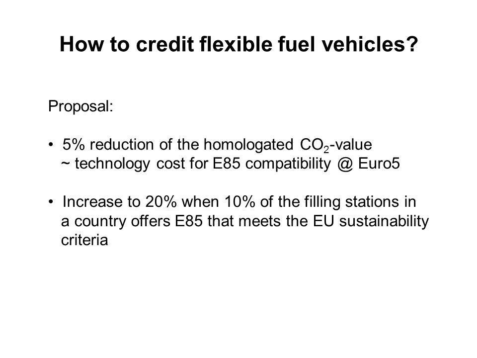 How to credit flexible fuel vehicles.