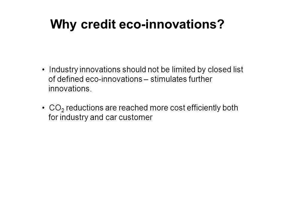 Why credit eco-innovations.