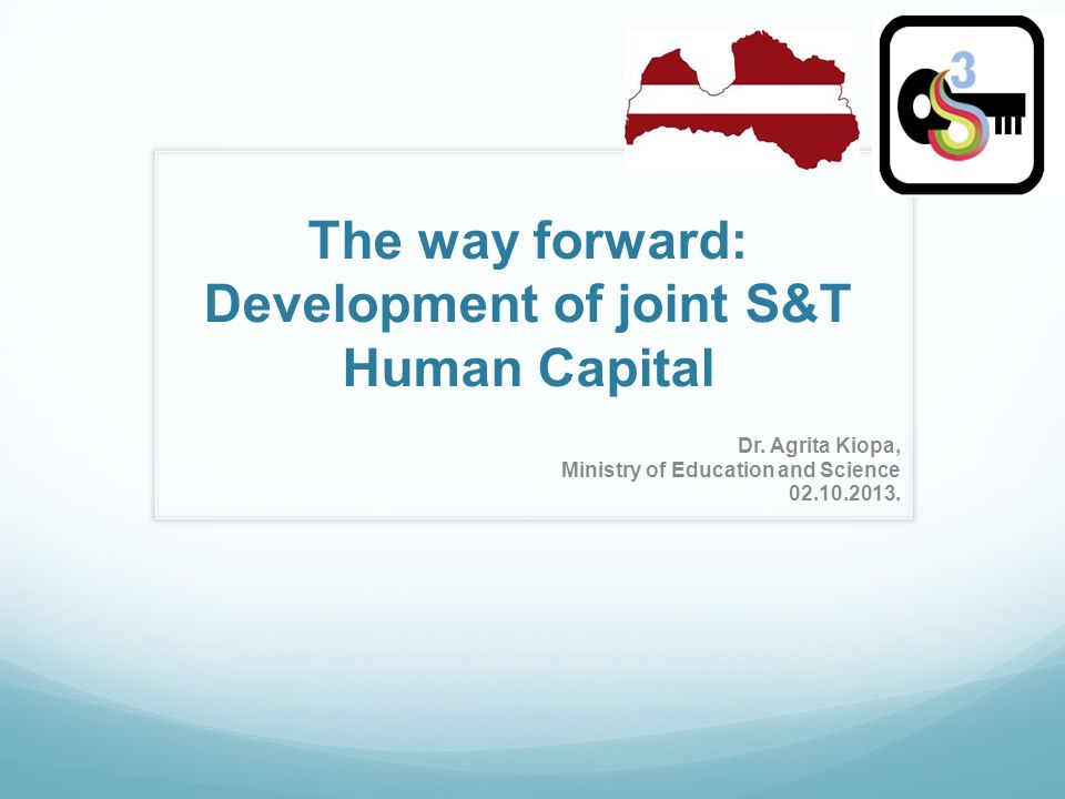 The way forward: Development of joint S&T Human Capital Dr.