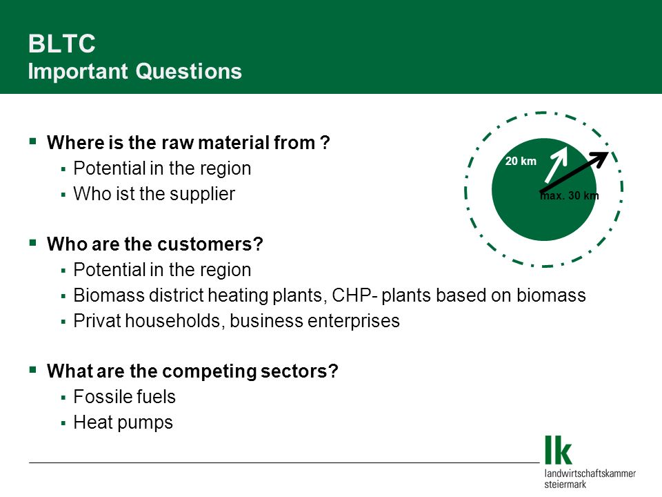 BLTC Important Questions Where is the raw material from .