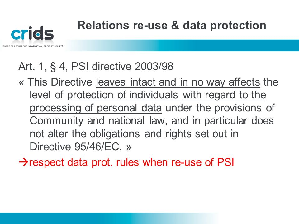 Relations re-use & data protection Art.