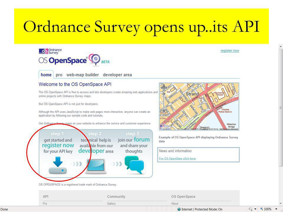 5th May 2011LAPSI Conference, Milan13 Ordnance Survey opens up..its API