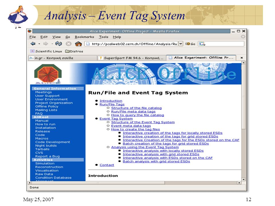 May 25, 200712 Analysis – Event Tag System